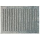 Wide Stripe Panel Hand-Woven Light Blue Area Rug Rug Size: 10' x 14'