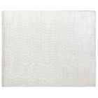 High Low Wave Hand-Woven White Area Rug Rug Size: 8' x 10'