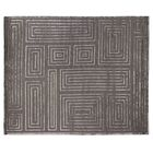 Metro Moreno Hand-Knotted Wool Charcoal Area Rug Rug Size: 10' x 14'