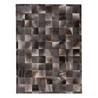 Natural Hide Hand-Woven Gray Area Rug Rug Size: 11'6