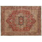Serapi Hand-Knotted Wool Red Area Rug Rug Size: 6' x 9'