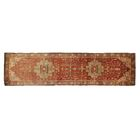 Serapi Hand-Knotted Wool Red Area Rug Rug Size: Runner 2'6