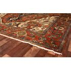 Serapi Hand-Knotted Wool Red Area Rug Rug Size: Rectangle 4' x 6'