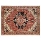 Serapi Hand-Knotted Wool Red Area Rug Rug Size: Rectangle 13' x 15'