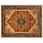 Serapi Hand-Knotted Wool Rust/Navy Area Rug Rug Size: Rectangle 12' x 18'