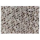 Natural Hide Hand-Tufted Cowhide Silver/Ivory Area Rug Rug Size: Rectangle 8' x 11'