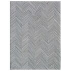 Natural Hide Hand-Tufted Cowhide Silver/Ivory Area Rug Rug Size: 5' x 8'