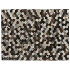 Natural Hide Hand-Tufted Cowhide Ivory/Brown/Black Area Rug Rug Size: 9'6