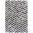 Natural Hide Hand-Tufted Cowhide Gray/Ivory Area Rug Rug Size: 13'6