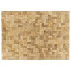 Natural Hide Hand-Tufted Cowhide Ivory Area Rug Rug Size: Rectangle 9'6