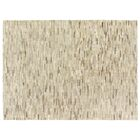 Natural Hide Hand-Tufted Cowhide Ivory/Silver Area Rug Rug Size: 9'6