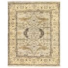 Oushak Hand Woven Wool Powder Blue/Beige Area Rug Rug Size: Rectangle 8' x 10'