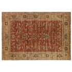 Serapi Hand Woven Wool Rust/Gold Area Rug Rug Size: Rectangle 6' x 9'