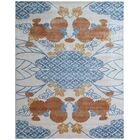 Koda Hand-Woven Orange/Blue Area Rug Rug Size: Rectangle 8' x 10'