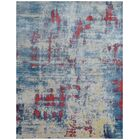 Reflections Hand-Woven Ivory/Blue Area Rug Rug Size: Rectangle 10' x 14'