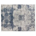 Roset Hand-Woven White/Blue Area Rug Rug Size: Rectangle6' x 9'