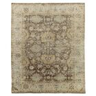 Oushak Hand-Knotted Wool Brown/Ivory Area Rug Rug Size: Rectangle 12' x 15'