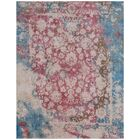 Antolini Hand-Woven Pink/Blue Area Rug Rug Size: Rectangle 10' x 14'