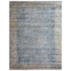 Cassina Hand-Woven Ivory/Blue Area Rug Rug Size: Rectangle 9' x 12'