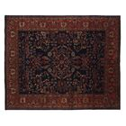 One-of-a-Kind Super Fine Hand-Woven Wool Red/Blue Area Rug
