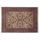 One-of-a-Kind Super Fine Hand-Woven Wool Ivory/Red Area Rug