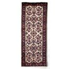 One-of-a-Kind Indo Kashan Hand-Woven Wool Ivory/Rust Area Rug