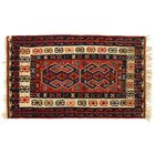 One-of-a-Kind Antique Turkish Hand-Woven Wool Red/Navy Area Rug