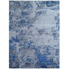 Antolini Hand-Woven Silver/Blue Area Rug Rug Size: Rectangle 10' x 14'