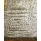Embossed Hand Woven Silk Khaki Area Rug Rug Size: Rectangle 9' x 12'