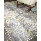 Hand-Woven Silver/Gray Area Rug Rug Size: 8' x 10'