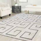 Ruiz Shag White/Gray Area Rug Rug Size: Rectangle 8' x 10'