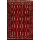 One-of-a-Kind Mori Princess Wine Hand-Knotted Wool Red Area Rug