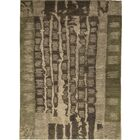 Indian Hand-Knotted Wool Brown Area Rug