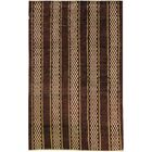 One-of-a-Kind Afghan Gabbeh Hand-Knotted Wool Burnt Orange Area Rug