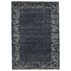 One-of-a-Kind Zarbof Quality Hand-Knotted Wool Midnight Area Rug