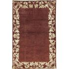 One-of-a-Kind Afghan Gabbeh Hand-Knotted Wool Rustic Brown Area Rug