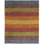 One-of-a-Kind Gabbeh Hand-Knotted Wool Red/Yellow/Blue Area Rug