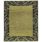 One-of-a-Kind Zarbof Hand-Knotted Wool Green/Black Area Rug