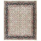 One-of-a-Kind Hand-Knotted Wool Ivory Area Rug
