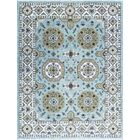 One-of-a-Kind Sumak Hand-Knotted Wool Light Blue/Beige Area Rug