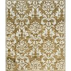 One-of-a-Kind Himilayan Hand-Knotted Gold/White Indoor Area Rug