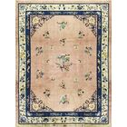 One-of-a-Kind Hand-Knotted Wool Beige/Blue Indoor Area Rug