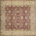 One-of-a-Kind Handwoven Silk Red/Beige Indoor Area Rug
