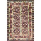 One-of-a-Kind Afghan Handwoven 6'4