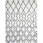 Riad Ivory/Navy Area Rug Rug Size: Rectangle 4' x 6'