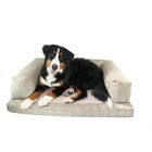 Frankie Baxter Couch Bolster Dog Bed Color: Brown Plaid, Size: Extra Large (54