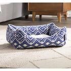 Aleah Lounge Dog Bolster Color: Blue, Size: 23