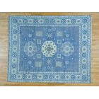 One-of-a-Kind Dorcey Khotan Hand-Knotted Wool Blue Area Rug