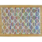 One-of-a-Kind Dyess Flat Weave Hand-Woven Silk Pink/Blue Area Rug