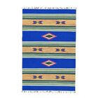One-of-a-Kind Tompson Flat Weave Killim Reversible Hand-Knotted Cotton Blue/Beige Area Rug